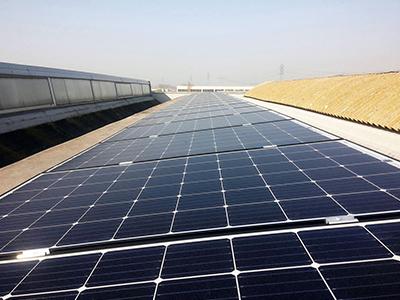 Copertina impianto fotovoltaico Cofari - soetech